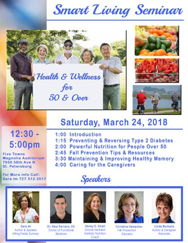 Health Seminar for 50 and over