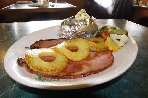 Ham Steak with Pineapple Rings