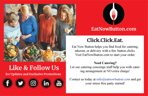 Eat Now Button offers complimentary catering concierge service for corporate