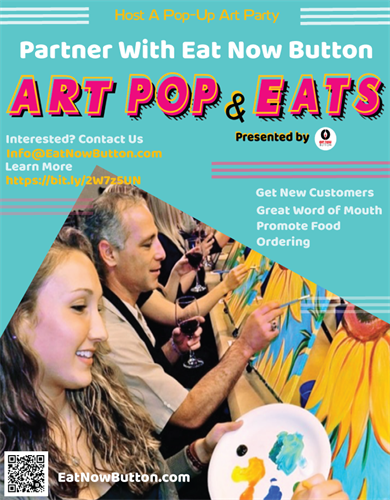 Eat Now Button is looking for eatery locations to host a pop up art party