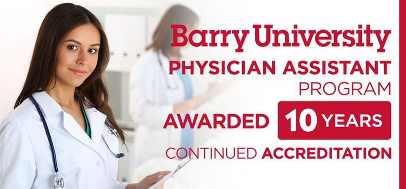 Barry University PHYSICIAN ASSISTANT PROGRAM