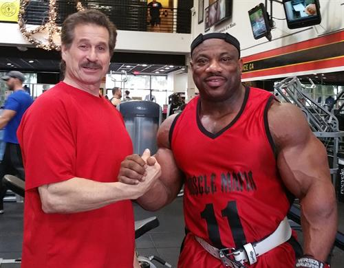 Dr Fitness USA with Dexter Jackson at Golds gym, Venice the Mecca of Bodybuilding