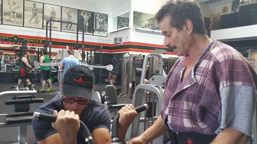 Dr Fitness USA with Claude Van Damne at Golds gym, Venice the Mecca of Bodybuilding