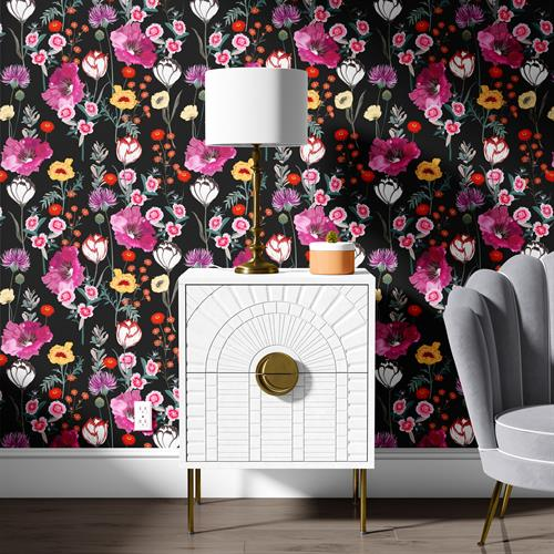 Spring Bloom Noir Wallpaper