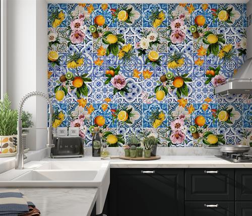 Sicilian Tile Wallpaper