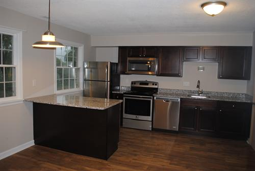 A brand new (Fall 2016) kitchen in the Triphammer Apartment Complex, 4 miles from Cornell University