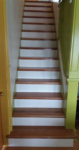new oak treads pine risers staircase makeover