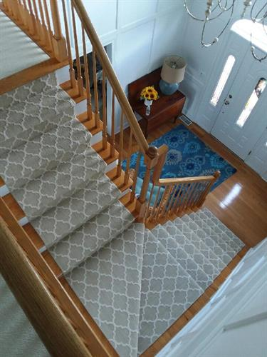 custom staircase runner patterned