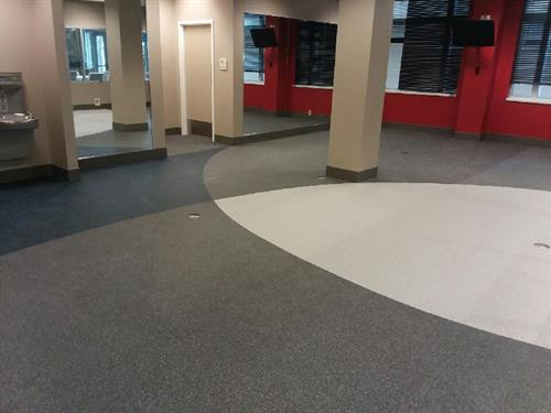 custom design sheet rubber gym floor