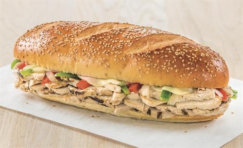 Chicken Philly Sub on Sesame