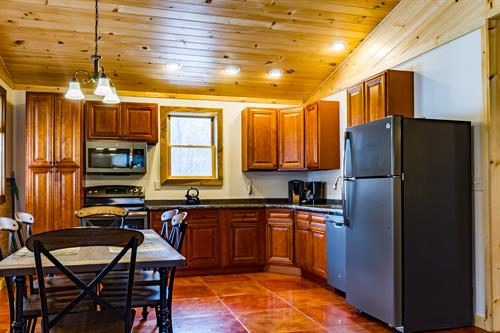 Kitchen and Dining Area in Cabin B