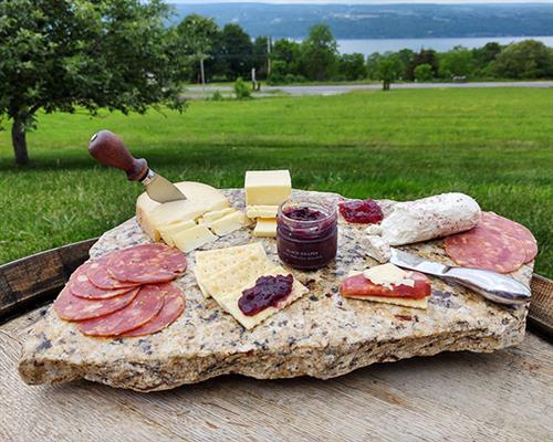 We have delectable charcuterie boards for your enjoyment.
