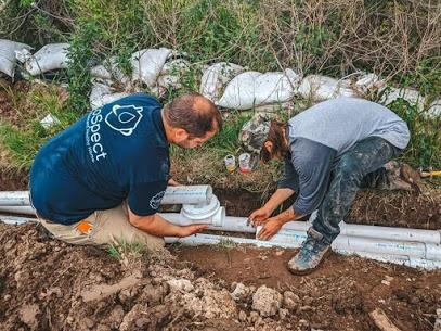 Exterior drain install with Adam