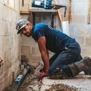 Waterproofing drain installation