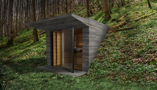 Sauna Rendering, Exterior