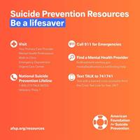 American Foundation for Suicide Prevention Central NY Chapter