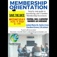 Membership Orientation Meeting