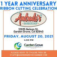 1 Year Anniversary Ribbon Cutting Ceremony Andrade's Barbershop