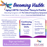 Becoming Visible: Aging LGBTQ+ Care from Theory to Practice