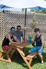 Picnic table trio