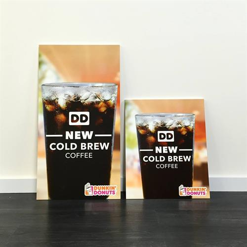 Graphic work for the Dunkin' Donuts franchise