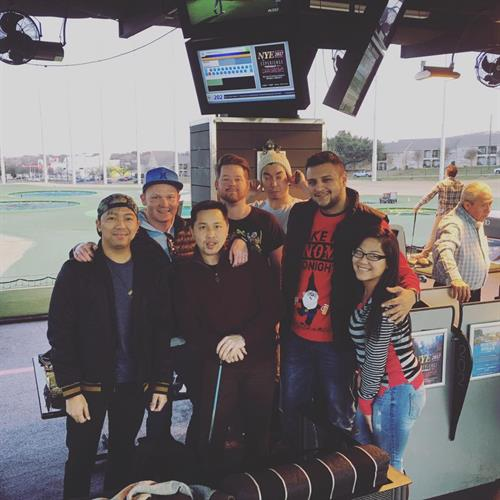Company Christmas outing at Top Golf Dallas