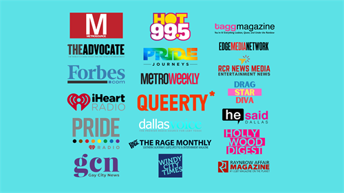 Media Partners and mentions Unleashed LGBTQ Virtual 2021