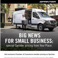 Big News for Small Business: special Sprinter pricing from Your Place