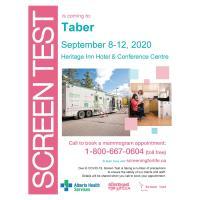Screen Test Mobile Mammogram Trailer in Taber