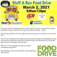 Stuff a Bus Food Drive