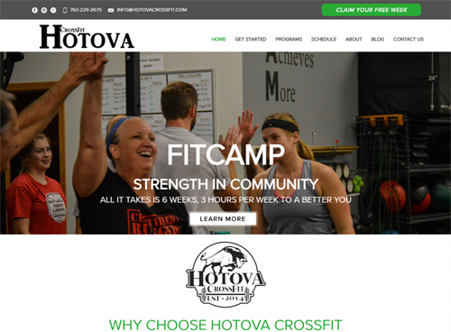 CrossFit Hotova Web Design