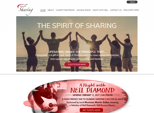 Spirit of Sharing Web Design