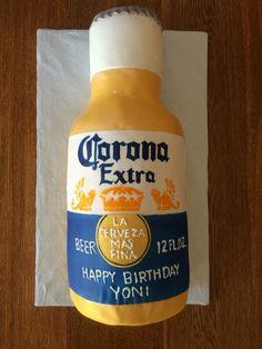 Hand Painted Corona Cake