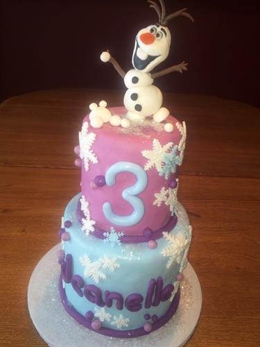 Frozen Theme.  olaf is hand sculpted