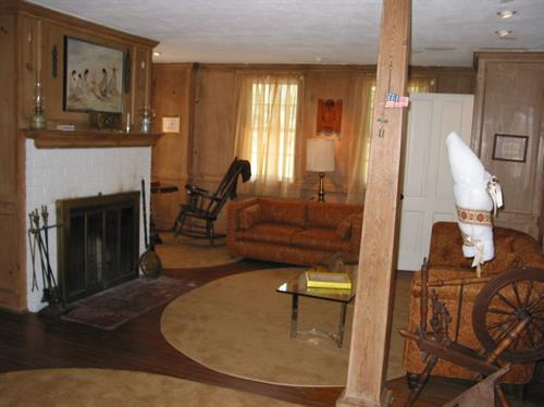 Living Room facing front of farmhouse