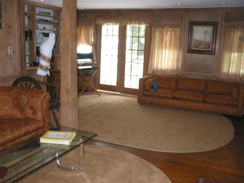 Living Room facing rear of farmhouse