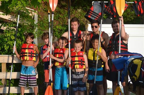 Getting Ready to Kayak on Lake Buel