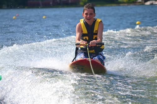 Kneeboarding on Lake Buel