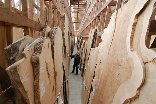 We have 4 buildings of spectacular lumber for customers to browse through