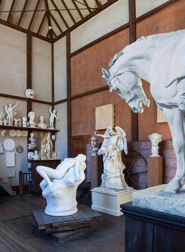 Inside the sculptor's studio