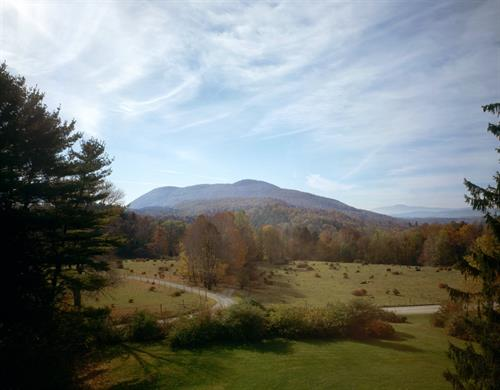 The view from Chesterwood looking towards Monument Mountain