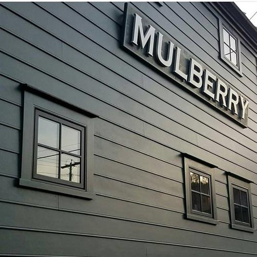 Mulberry Hair Company Sign