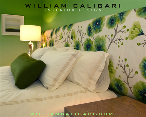 Sleeping well with a fabric headboard and bedding from LINEN