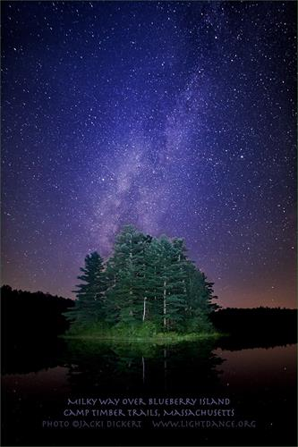 Milky Way over Blueberry Island