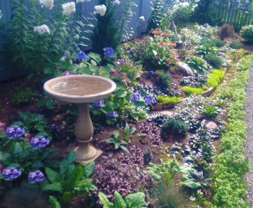 Birdbaths go with everything