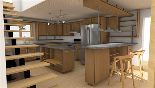 Proposed Kitchen Renovation-Computer Rendering