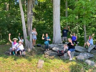 Guests resting at BNRC rest area overlooking Parson's Marsh