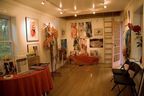 Inside Inner Vision Studio: original watercolors, printed garments, art placemats, fine art prints