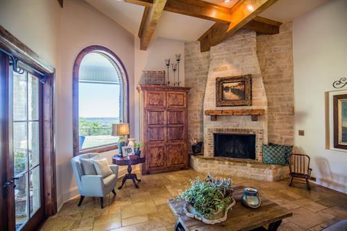 Louder Stone Fireplace - photo Credit: Michael Anglin