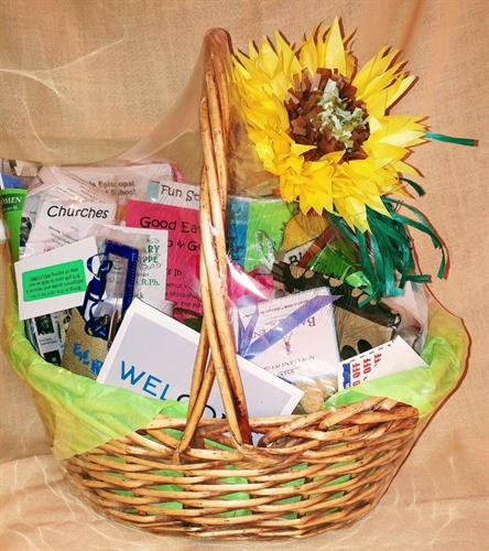 Each basket is loaded with goodies to help newcomers get acquainted quickly with all that's great about Kerr County.